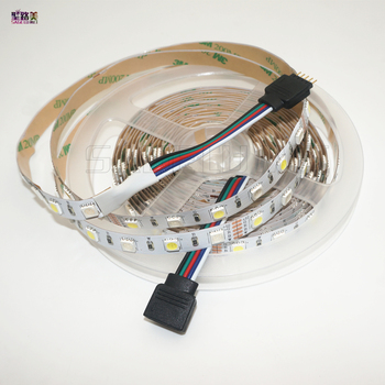 5M/roll DC12V 60leds/m SMD5050 Jauktu Krāsu RGBW RGB + (Silts/Vēss Balts) RGBWW RGBCW LED Lentes 5pin IP30/IP65/IP67 300 Led/roll