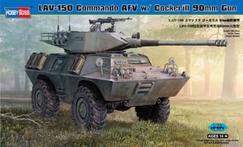 Hobijs Boss 82422 1:35 - V-150S Commando APC 90mm Cockerill Pistoli modelis, komplekts